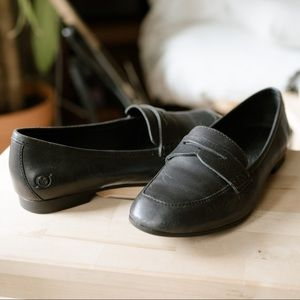 Born Black Leather Penny Loafers 6